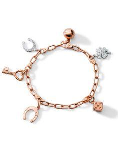 Armband mit Talismanen aus Roségold von Dodo