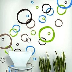 Retro Rings Wall Decals   Modern Wall Decals   Trendy Wall Designs