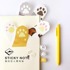 N15 1X Kawaii Cute Cat Paw Memo Pads Sticky Notes Stick Paper Decor Sticker Bookmark Stationery Student School Office Supply