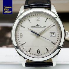 Jaeger-LeCoultre 154.84.20 Master Control Automatic, Q1548420, stainless steel on a strap with a stainless steel deployant buckle, automatic movement (Caliber 899), date at 3 o'clock, centered sweep second hand, sapphire crystal, silver dial with silver hour markers and Arabic numerals, solid case back, water resistant to 50 meters, diameter: 39 mm, thickness: 8.9 mm, Like New with Box and Papers dated Dec 2015. The watch was just completely serviced from Jaeger Lecoultre Watches, 3 O Clock, Watch Companies, 9 Mm, Crystals, Box, Stainless Steel, Boxes