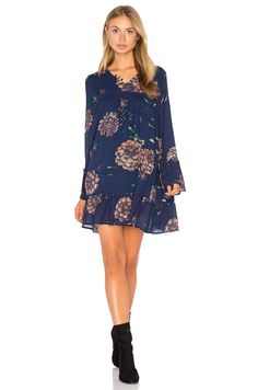 Knot Sisters Langley Dress in Navy Floral