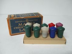 10 Vintage Mazda Bell C-6 Christmas Light Bulbs #Christmas
