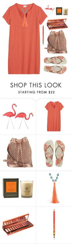 """""""Untitled #2098"""" by ebramos ❤ liked on Polyvore featuring Hartford, nooki design, Havaianas, True Grace, BaubleBar, Urban Decay and Estée Lauder"""