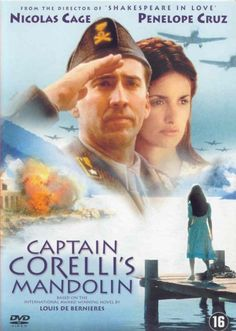 Dutch dvd movie cover image for Captain Corelli's Mandolin The image measures 570 * 800 pixels and is 65 kilobytes large. Robert Duvall, Robert Redford, Nicolas Cage, Penelope Cruz, Michael Nouri, Mary Stuart Masterson, Richard Roundtree, Blythe Danner, Kelly Mcgillis