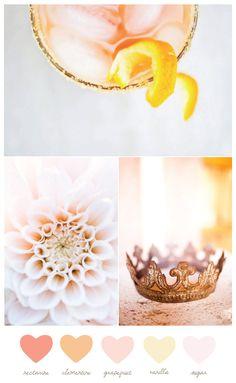 Wedding Colors / Couleurs de mariage > Pretty Peach and Pink color Palette / Palette de couleurs Pêche et rose #mariage #wedding