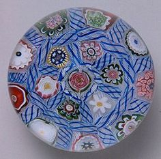 """Currier Collections Online - """"Barber Pole Chequer Paperweight"""" by Clichy Glasshouse"""