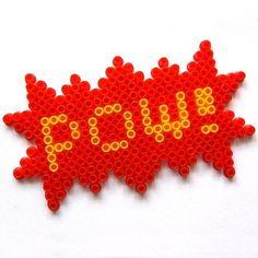 Pow! with Hama/Perler beads