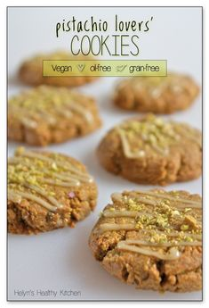 """If you love the taste of pistachios, you will adore these cookies. A pistachio """"flour"""" base, chunky pistachio pieces inside and crumbled pistachio dust on top… what's not to…"""