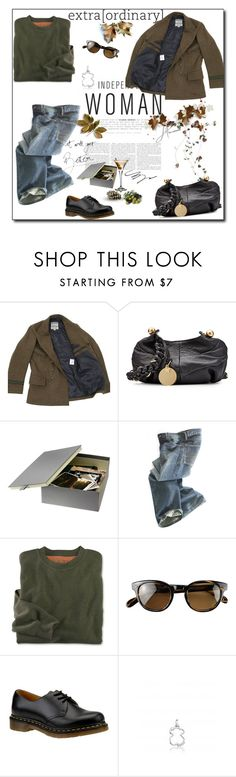"""""""November Day"""" by monika-jall ❤ liked on Polyvore featuring Nigel Cabourn, See by Chloé, Polo Ralph Lauren, Oliver Peoples, Dr. Martens and TOUS"""