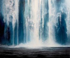 Falling Canada House, Layer Paint, International Artist, Canadian Artists, Contemporary Paintings, Waterfall, Art Gallery, Waves, Fine Art