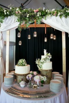 Love this set up for the cakes Granville Island, Island Weddings, Wedding Cakes, Wedding Inspiration, Table Decorations, Wedding Dresses, Reception Ideas, Photography, Wedding Stuff