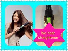No heat straightener Water Brown sugar