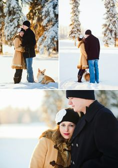 Married love. Winter anniversary session with an adorable corgi!! | Sophia Jordan Photography | Alaska and Nationwide Lifestyle Portrait Photography