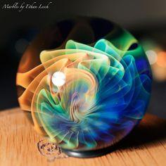 """1.59"""" HANDMADE MARBLE SIGNED BY ~ETHAN LESCH~ BOROSILICATE, BORO, ART, #ethanlesch #Glass"""