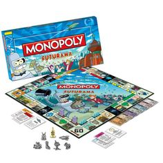 Futurama Monopoly Collector's Edition - with Gold Bender Token Monopoly http://www.amazon.com/dp/B007XFRHH4/ref=cm_sw_r_pi_dp_p5fRvb0HR194W