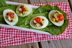 Cobb Salad Deviled Eggs