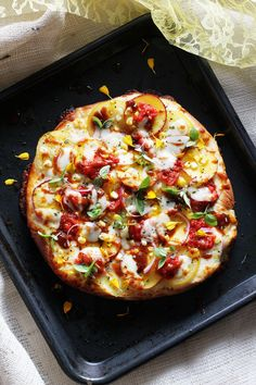 Peach Barbecue Pizza Pie @carlynnwoolsey @sargentocheese #realcheesepeople