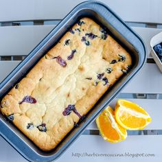 Herbivore Cucina: Whole blueberries and Orange juice come together to make this flavorful yet easy cake. And it is eggless, made using Greek yogurt!