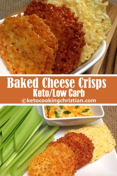 Baked Cheese Crisp Crackers - Keto and Low Carb - Meals - Chips Keto Cheese Chips, Cheese Crisps, Baked Cheese, Keto Crisps, Bacon Chips, Healthy Low Carb Recipes, Keto Recipes, Cooking Recipes, Healthy Foods