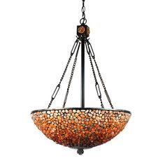 Quoizel TF2819VB 3 Light Pomez Bowl Large Pendant, Vintage Bronze - Lighting Universe