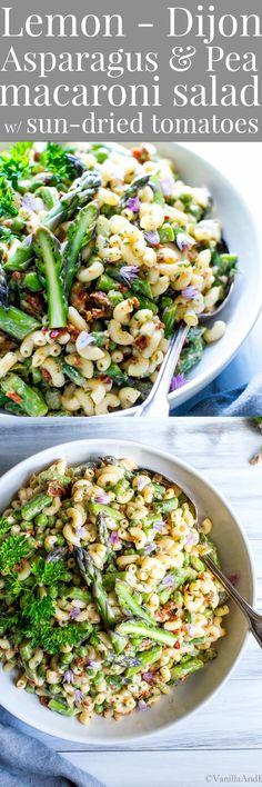 Lemon-Dijon Asparagus and Pea Macaroni Salad
