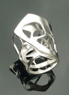 anillos plata diseño joyas modernas artesania moda