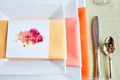 Decorate Your Table with this Ombre Napkin Look