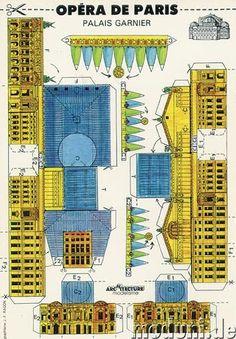 Tremendous Trifles: Odds 'n' Ends: Opéra de Paris Paper Doll House, Paper Houses, Origami, Paris Opera House, Paper Architecture, Putz Houses, Glitter Houses, Paper Models, Paper Toys