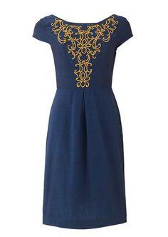 Navy Baroque Dress Size 14 67 pounds