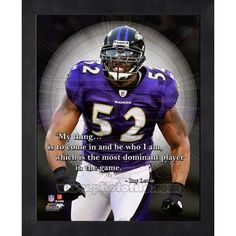 Ray Lewis Pro Quote. Click to order. #Ravens - $19.99