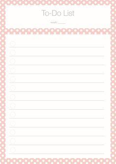 To Do List Polka Dot pink Freebie
