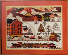 Dimensions HOLIDAY TRAIN Needlepoint Kit by VintageCrafts4You