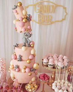 Baby Shower Cake Pops For Girls Thoughts Ideas Bolo Tumblr, Bolo Fack, Gravity Cake, Teddy Bear Cakes, Teddy Bears, Baby Birthday Cakes, Bear Birthday, Pop Baby Showers, Balloon Cake