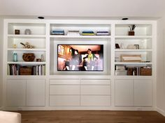 Love the clean lines of these built-ins { Lauren Liess }