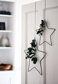 Noordse kerstdecoraties met roos en grijs | De blog van deze vier muren #Weihnachten#Dekoration