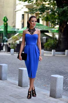 Feeling Blue? Vamp it up with My Silk Fairytale: Royal Tulip Dress