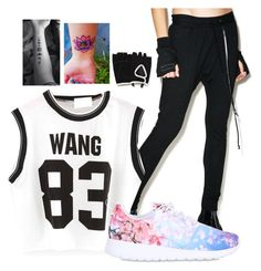 Hanging With Jackson Wang by weirdo-of-the-week666 on Polyvore featuring polyvore fashion style Knomadik NIKE Zara clothing