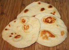 Naan bread. 4 ingredients.