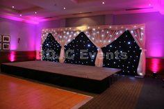Wedding top table Star-light backdrops