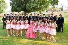 #Quinceanera traditions: the court.