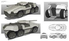 Chronicles Of Marad - Land Tank, Gavin Manners on ArtStation at…