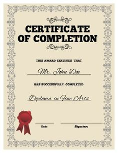 Church Certificate Template  Certificate Templates  Sunday