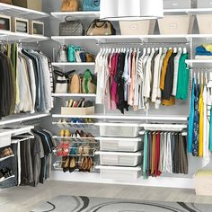 I do miss the vertical visual divieders taht you get with some of the other solid shelving system for closets - vistually, it neatens the closet to have the vertical lines. White His & Hers Closet