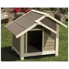 Your little best friend will love the comfort and quality construction of the Precision Outback Twin Peaks Dog House for small dogs, and we've. Wood Dog House, Small Dog House, Small Houses, Plastic Dog House, The Perfect Dog, Dog Carrier, Roof Design, House Design, Outdoor Dog