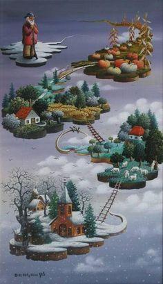 Dragan Mihailović Snow Globes, Christmas Ornaments, Holiday Decor, Artist, Serbian, Home Decor, Christmas Ornament, Interior Design, Home Interior Design