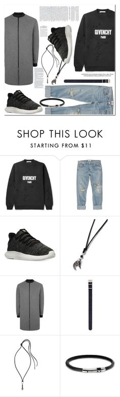 """Untitled #860"" by es-vee ❤ liked on Polyvore featuring Givenchy, AGOLDE, adidas, Topman, Timex, Lanvin, Emporio Armani, men's fashion and menswear"