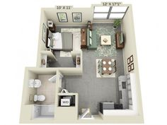 Studio Apartment Plan if you plan on moving into a new apartment that is not really big