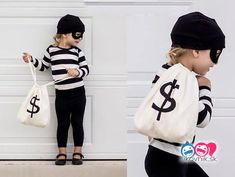 21 Creative And Easy Last Minute Halloween Costumes for kids last minute bandit halloween costume – Try these Last minute Halloween costume ideas that are both creative and easy and you can pull off in less than one hour. Minions, bandits, dolls and Diy Halloween Costumes For Kids, Couple Halloween, Baby Halloween, Creative Costumes, Costume For Kids, Halloween Carnaval, Halloween Costumes Diy Kids, Robber Halloween Costume, Kids Witch Costume