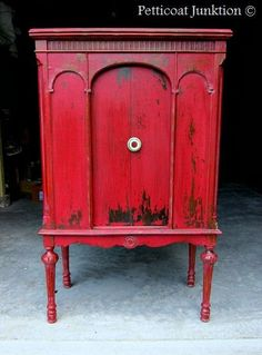 Miss Mustard Seeds Milk Paint Furniture Makeover. Tricycle Red Painted Furniture