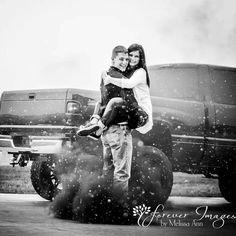 Diesel truck engagement pictures